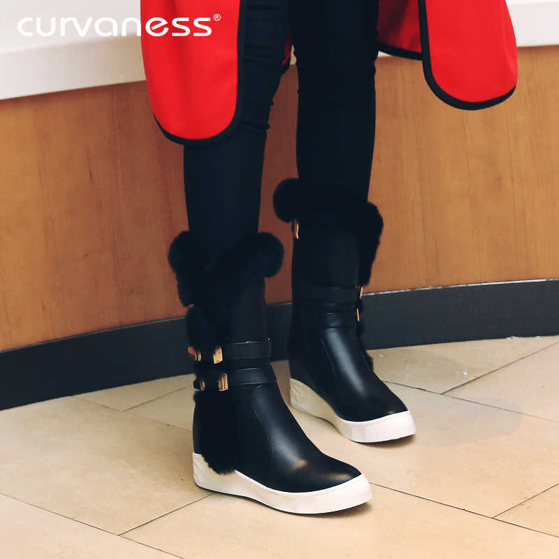 f95c7a356ace ... Curvaness New Brand Sexy Women s Boots Fashion High Heel Shoes Women  Stretch Boots Conjoined Boots Two. RELATED PRODUCTS. Curvaness Genuine  Leather Snow ...
