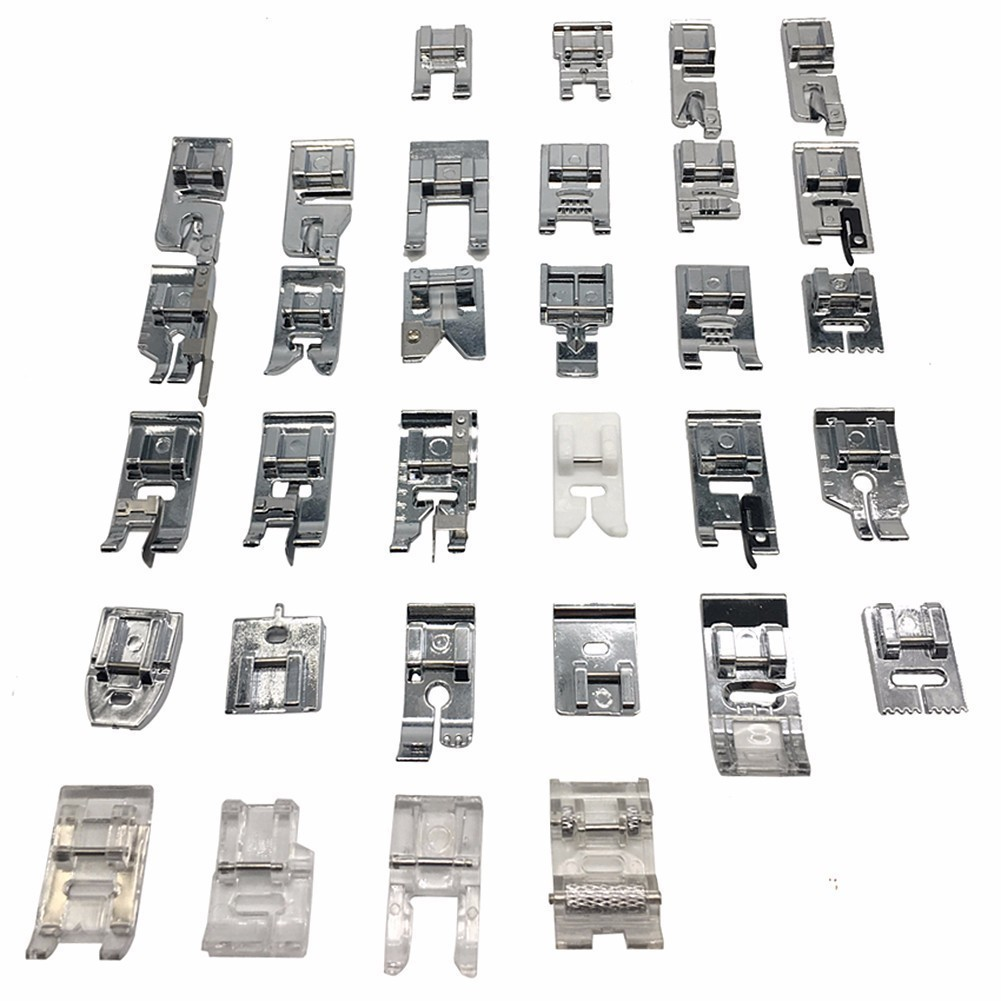 52 Pieces Presser Foot Domestic Sewing Machine Braiding Blind Stitch Darning Presser Foot Kit Set For Brother Singer Janome
