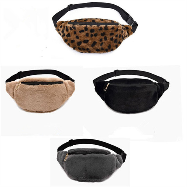 2018 Women Men Waist Bag Leopard Bag Fanny Pack Money Waist Pouch Travel Canvas Belt Holiday Wallet Chest Bag Unisex