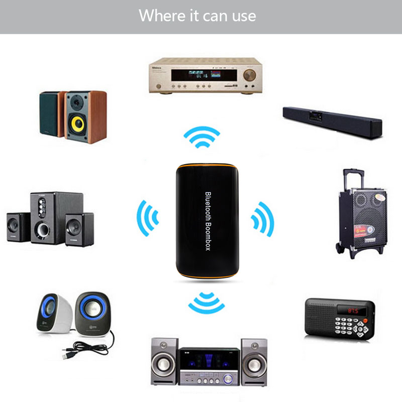 latest b2 wireless bluetooth receiver bt 4 1 audio music box with mic rca for phones car. Black Bedroom Furniture Sets. Home Design Ideas