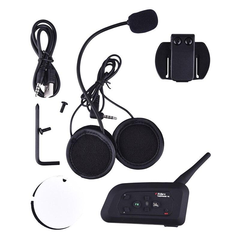 2018 Vnetphone V4 1200M Bluetooth Headset 4 Ryttere Bikers Skiløbere - Motorcykel tilbehør og dele - Foto 6