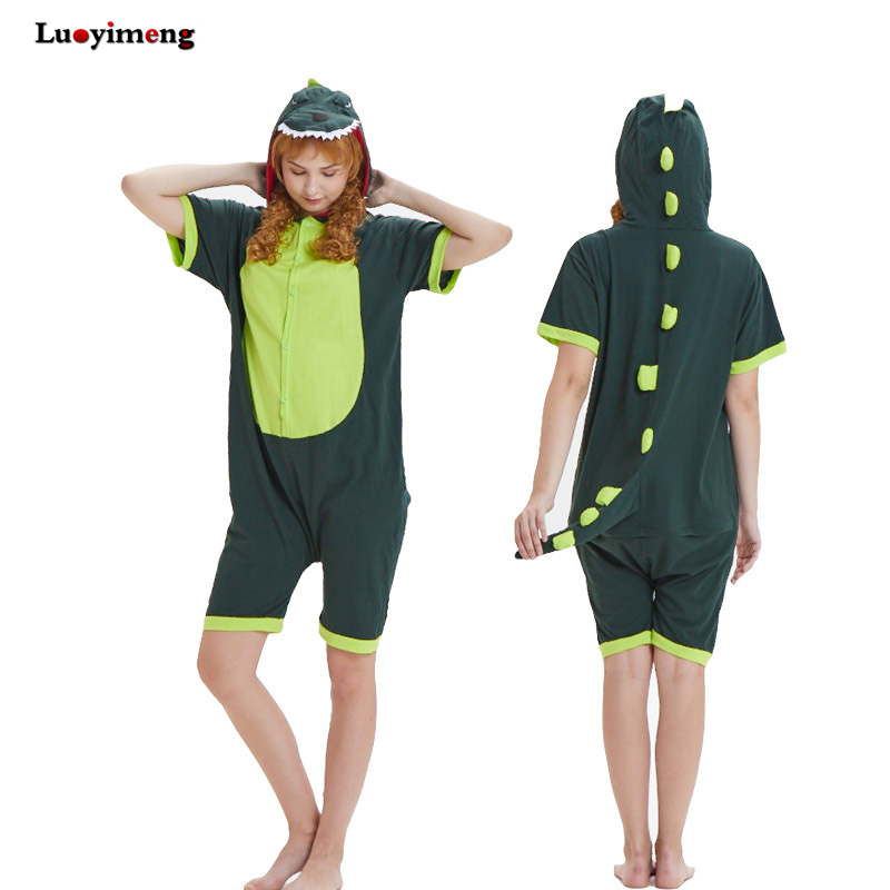 232827b681 Summer Adult Onesie Hoodie Pajamas Cotton Anime Unicorn Stitch Pikachu Cow  Sleepwear Home Cloth Kawaii Unisex Pyjamas Nightdress-in Pajama Sets from  ...