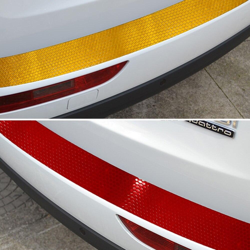 Auto Car Rear Bumper Sill Protector Plate Warning
