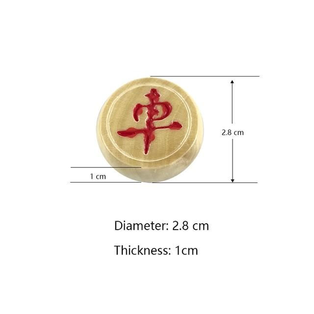 Jeu d'échecs chinois, jeu de société pliable en bois 29.5x27.5x1.3 CM, boîte chinoise, pièces en bois 3