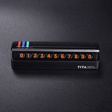 1 PCS Car Temporary Parking Card Phone Number Card Plate Hidden Design Car Accessories for BMW