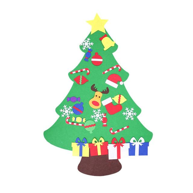 Hot Sell Felt Christmas Xmas Tree Diy Magic Tape Reindeer Snowman