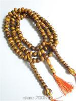 BRO564 Tibetan 108 Beads Coffee Yak Horn Prayer Beads Mala 10 11mm Tibetan Buddhist Man Rosary