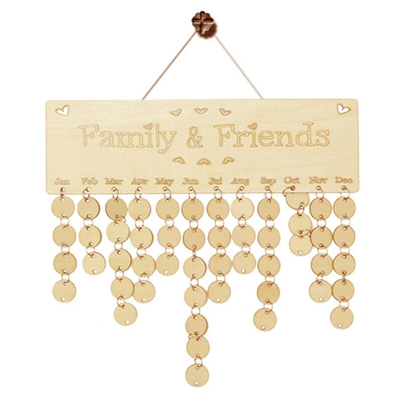 Diy Hanging Birthday Calendar : Wooden anniversary calendar board diy family friends