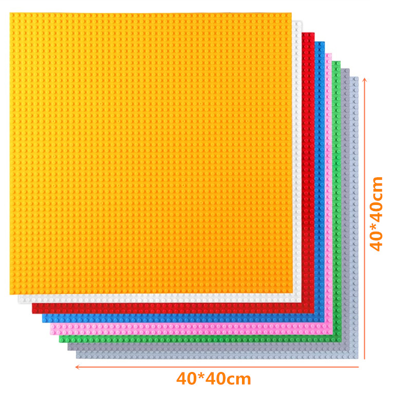 50*50 Dots Small Brick DIY Building Blocks Big Base Plate 40*40CM Small Bricks Baseplate Construction Toys For Kids Baseplate