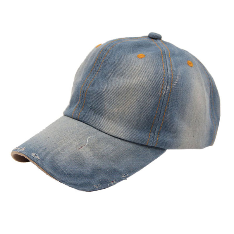2016 Brand New Baseball Caps Fashion Unisex Jean Sport Hat Casual Women Men Summer Denim Baseball Cap Sun Hat