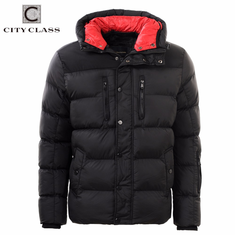 CITY CLASS 2019 แฟชั่นฤดูหนาวใหม่แจ็คเก็ตหนาเสื้อกันหนาวลำลองฝ้าย Hooded ชาย Outerwear จัดส่งฟรี 2678-ใน เสื้อกันลม จาก เสื้อผ้าผู้ชาย บน   3
