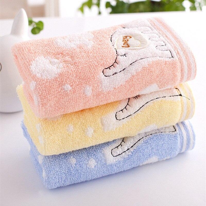 Small Towel Animals Microfiber Kids Cartoon Absorbent Hand Dry Bathroom 25x50cm
