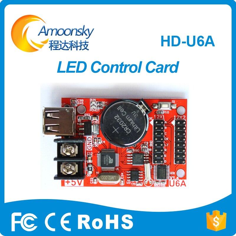 HD U6A Led Control Card For Mini Led Display USB Disk Communication Cheap LED Display Control Card