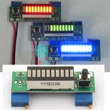 Elektroniczne zestawy do samodzielnego wykonania LM3914 12V 3.7V wskaźnik pojemności baterii litowej moduł zielony 10 segmentowy LED moc wyświetlacza Tester poziomu