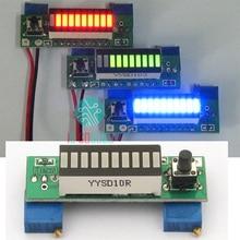 Kits electrónicos de bricolaje LM3914 12V 3,7 V módulo indicador de capacidad de batería de litio verde pantalla LED de 10 segmentos probador de nivel de potencia