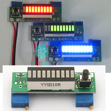 זאת בעצמך אלקטרוני LM3914 12 V 3.7 V קיבולת סוללת ליתיום מחוון רמת כוח מודול 10 מגזר ירוק LED תצוגה Tester