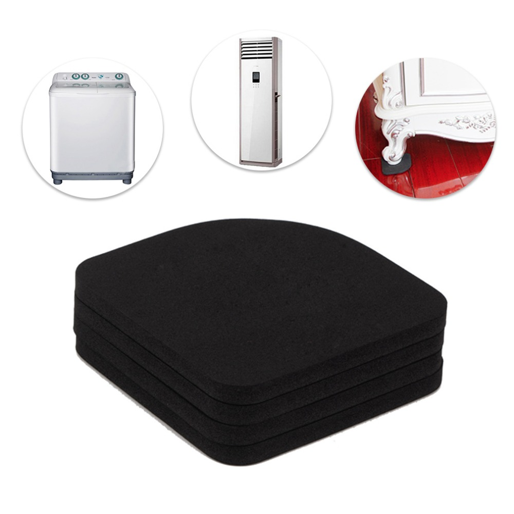Bathroom Fixtures 4pcs Multifunctional Refrigerator Washing Machine Anti-vibration Pad Mat