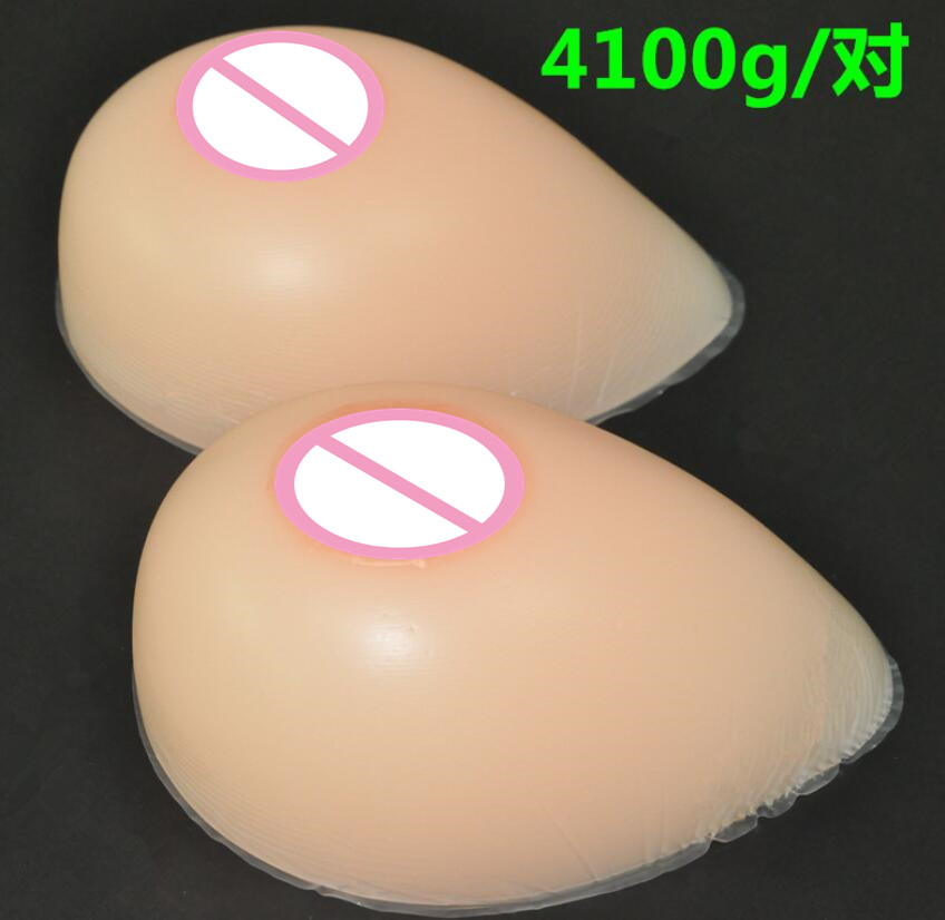 4100g/pair EE/F/FF  Silicone Breast forms Mastectomy Artificial Silicone Fake Breast For Crossdressers And Transvestites4100g/pair EE/F/FF  Silicone Breast forms Mastectomy Artificial Silicone Fake Breast For Crossdressers And Transvestites