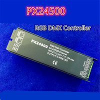 Free Shipping DMX Decoder Driver PX24500 RGB LED Controller RJ45 Interface for DMX512/1990 for LED Strip Light DC12V 24V