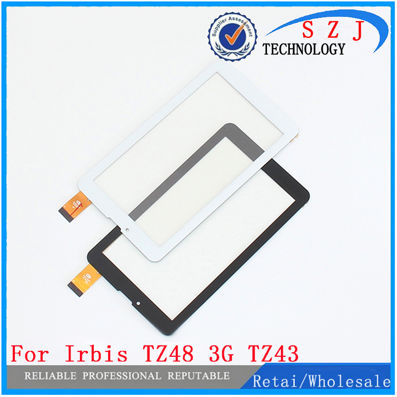 New 7'' inch Touch Screen For Irbis TZ48 3G TZ43 TZ49 Tablet Touch Panel Digitizer Sensor Glass Replacement Free shipping new 10 1 inch for irbis tz21 tz22 3g black white touch screen tablet digitizer sensor replacement free shipping