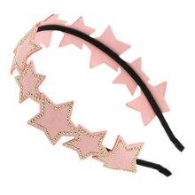 Сьюзи Кожи Заклепки Звезды Пентаграммы Ободки, Ювелирные Изделия волос розовый