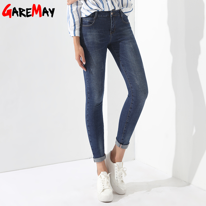 Skinny Jeans Female Denim Pants Women's Basic Jeans Feminino Vaqueros Mujer Ladies Jean Denim Clothing Women GAREMAY 1229 womens ripped jeans with embroidery summer 2017 ladies straight cotton denim casual pants pantalones vaqueros mujer garemay 2610