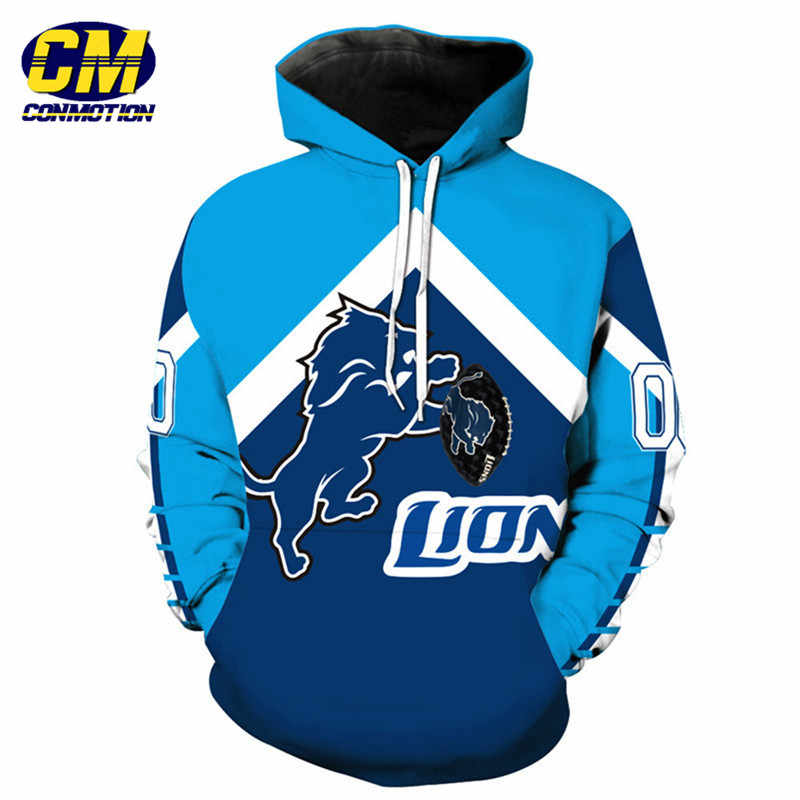 181215d89 American football Fashion 3D hooded sweatshirt cool pullover Detroit Lions  Dropshipping and Wholesale EU SIZE