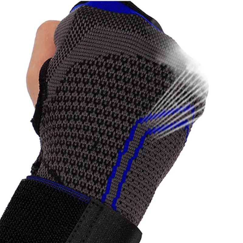 Bailight 1Pcs Sport High Elastic Protector Riding Basketball Weightlifting Palms Sports Gloves Adjustable Wrist Brace j2
