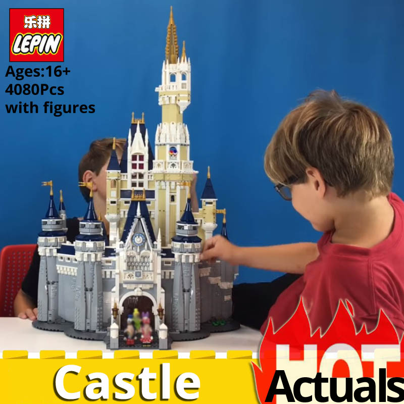 DHL LEPIN 16008 Cinderella Princess Castle City Model Compatible legoingly 71040 Building Block Toys FOR Children Christmas Gift lepin 16008 lepin cinderella princess castle building block compatible legoing 71040 legoing cinderella princess castle set