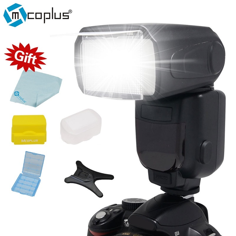 Mcoplus TR-950 LCD Flash Universal Mount Speedlite for Canon Nikon Pentax Olympus DSLR Camera D7100 D3100 D90 D5300 D3200 600D genuine meike mk950 flash speedlite speedlight w 2 0 lcd display for canon dslr 4xaa