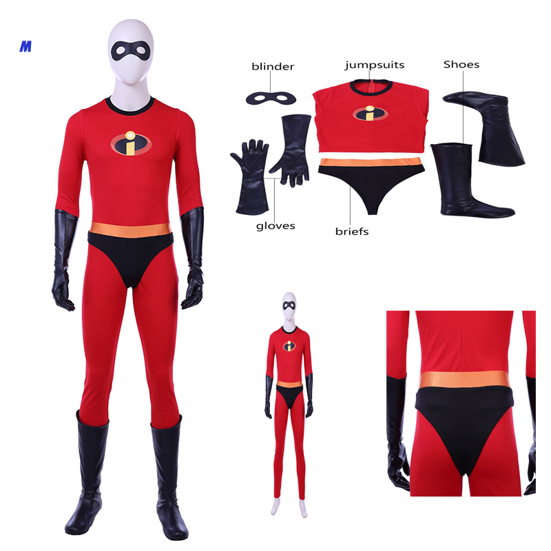 New The Incredibles 2 Mr. Incredible Bob Parr Cosplay Costume Halloween Customized Adult Outfit Shoes Boots Any Size