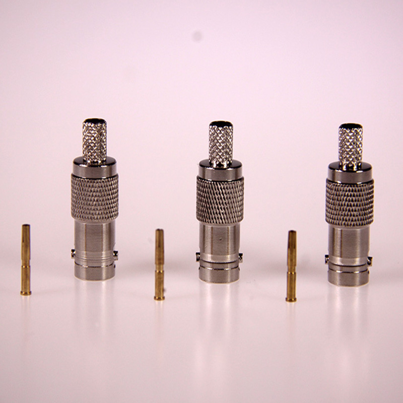 BNC FEMALE CRIMP Connector New BNC female crimp straight for RG58 RG59 RG6 RG174 RF Coax Adapter connector