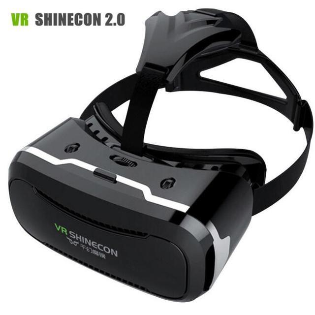Original VRShinecon 2.0 3D Smart Glasses Virtual Reality Headset Google Cardboard Oculus Rift for 4.5-6.0inch Phone + Controller