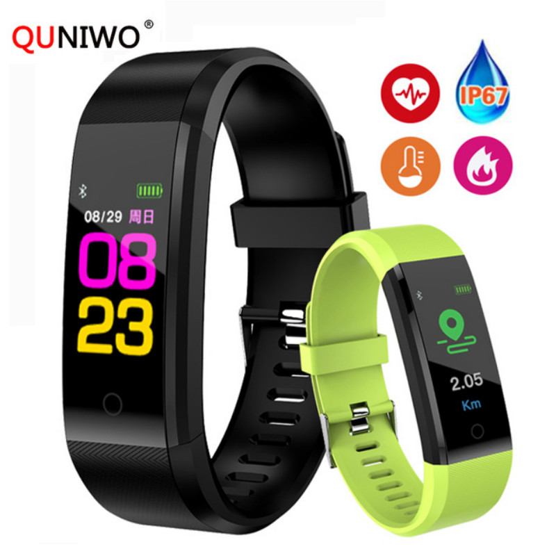 New Smart Wrist Band Bracelet Fitness Heart Rate Blood Pressure Pedometer Sports Wristband Smart Watch Men Women For IOS Android