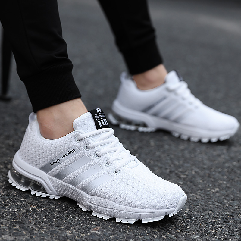 Cork New Men Shoes Casual White Sneakers Mens Trainers Air Cushion Men Tenis Masculino Adulto  Sneakers Leisure Blue Shoes Men