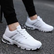 Zapatillas deportivas de corcho para hombre, Tenis masculinos informales, con cojín de aire, color blanco