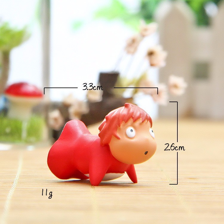 Image 5 - Anime Hayao Miyazaki Ponyo on the Cliff by the Sea Model Doll Ponyo Action Figure Toy Collection Model Toy Garden Ornament Decor-in Action & Toy Figures from Toys & Hobbies