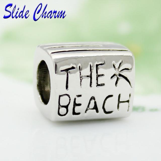 Free Shipping European Retro The Beach Charm Beads Fit Pandora