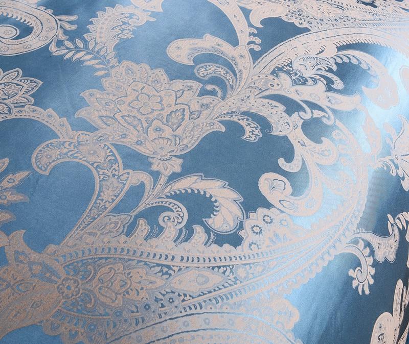 4 Uds de seda satén de algodón de lujo conjunto de ropa de cama de jacquard 22 estilos funda nórdica hoja de cama fundas de almohada reina rey tamaño de ropa de cama - 4
