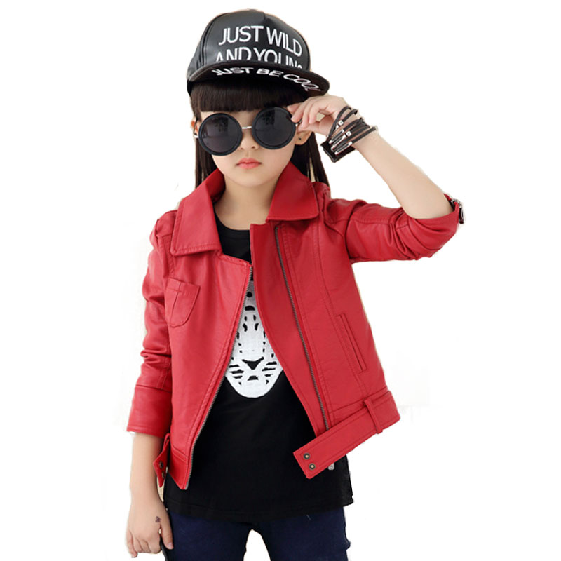 Red leather jacket for kids