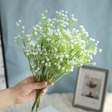 1 bunch mini artificial Baby Breath flower bouquet white fake Bridal Bouquet Flowers Home party Decor