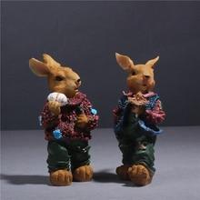 handmade crafts rabbit sculpture decoration desktop animal ornaments decorative garden decorations