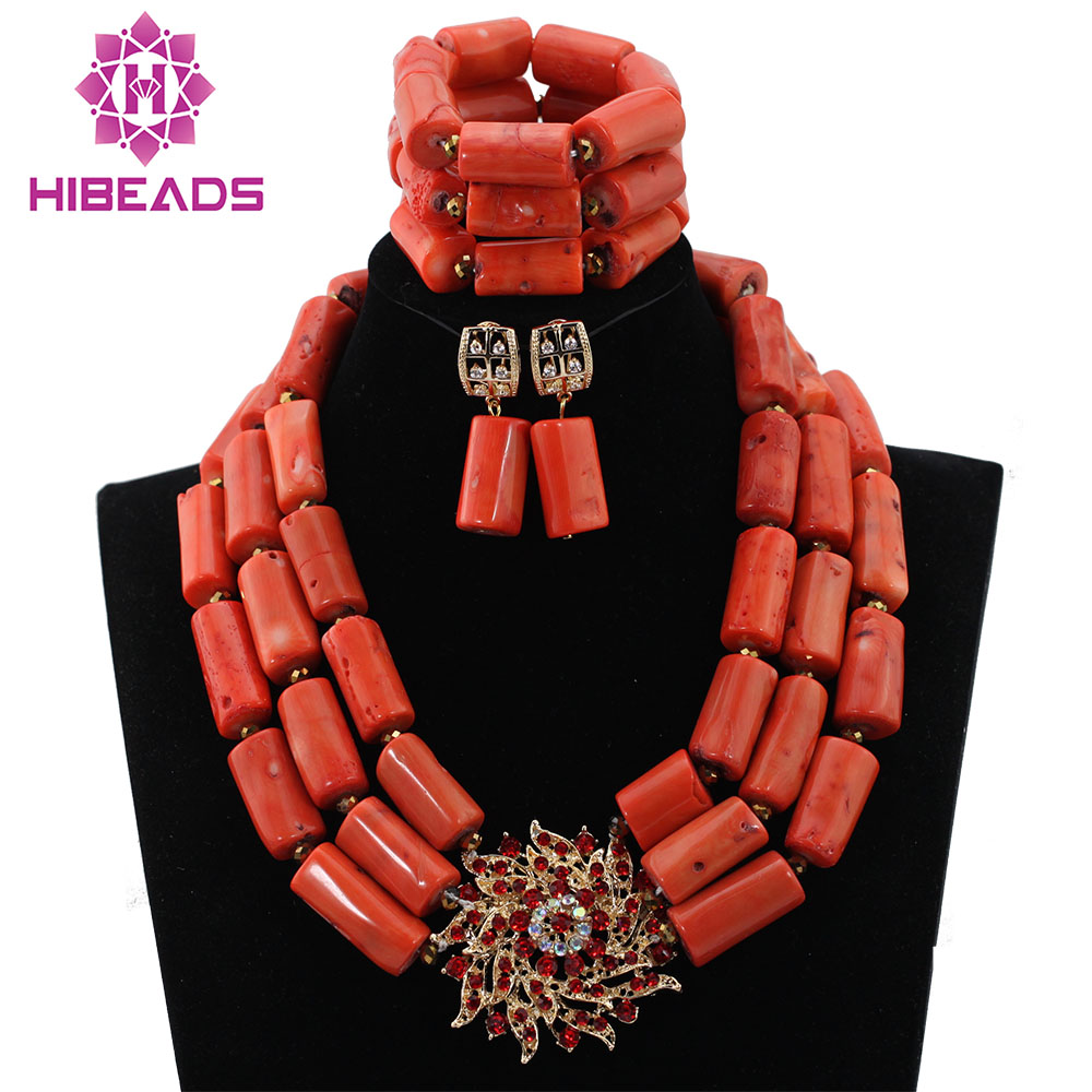 """Red 8*40mm GENUINE Natural Branch Coral Necklace for Women Long Necklace 20/"""""""
