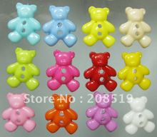 NB075 cartoon buttons 300pcs mixed colors BEAR shape 16mm*19mm craft fashion plastic