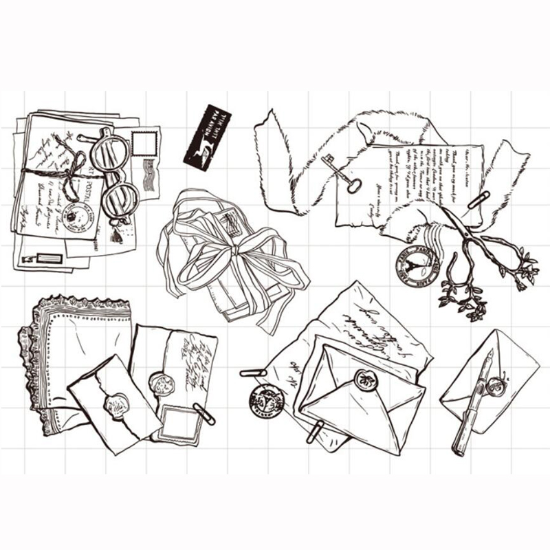 ZFPARTY Letters Transparent Clear Silicone Stamp/Seal for DIY scrapbooking/photo album Decorative card making lovely animals and ballon design transparent clear silicone stamp for diy scrapbooking photo album clear stamp cl 278