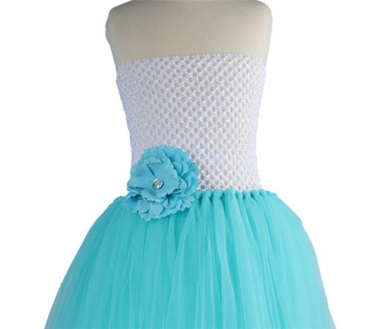 Şirin Qızlar Ağ Mavi Crochet Tutu Donu Uşaqlar Çamaşırlı - Uşaq geyimləri - Fotoqrafiya 6