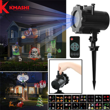 Фотография Kmashi LED Projector Light-16 Replaceable Slides with Remote Control Auto On/Off Timer Show Landscape Waterproof IP65 Spotlight