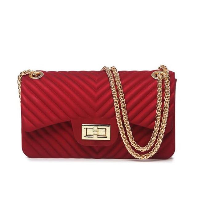 a3a2994c54c4 Fashion Women Scrub PVC Handbags Casual Jelly Messenger Crossbody Shoulder  Bags Chain Sling Bag Summer Sweet
