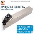EDGEV держатель инструмента DVQNR2020K16 DVQNL2020K16 DVQNR DVQNL CNC металлический токарный станок аксессуары Внешний поворотный держатель инструмента для ...