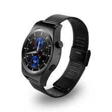 Smartch X10 Fullly Rounded Smart Watch Suppors tHeart Rate Monitor Bluetooth 4.0 Real Leather Smartwatch Supports Arabic Turkish
